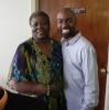 Bertha with Music Pastor
